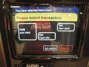 Comprando Metrocard na máquina