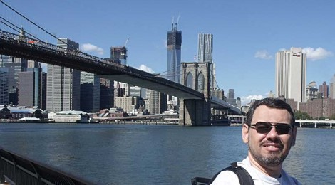 Helvecio e a Brooklyn Bridge - 2012