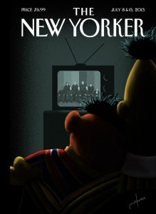 Capa do The New Yorker: O momento de alegria de Bert e Ernie